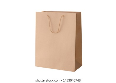 Long paper bag on a white background