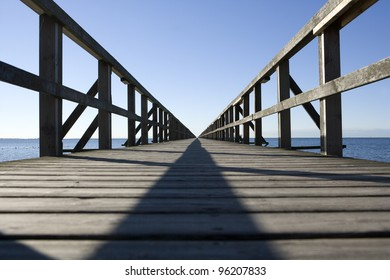 Long Pier from Low Angle view