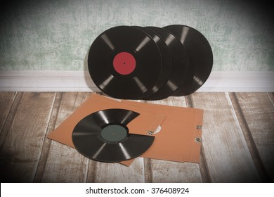 Long playing record, vintage background