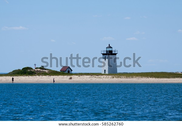 Long Point Beach Lighthouse Provincetown Cape Stock Photo
