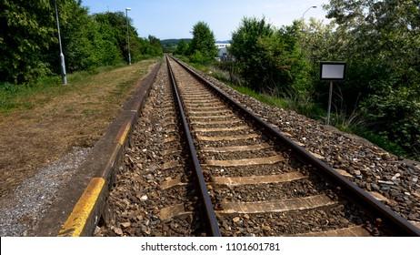 Long rail tracks – landscape
