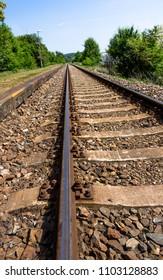 Long rail tracks -portrait