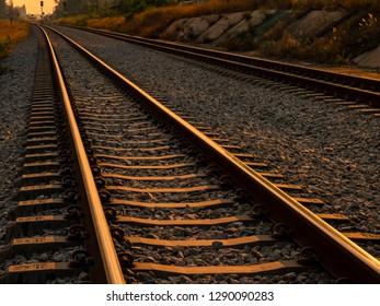 the long railroad track