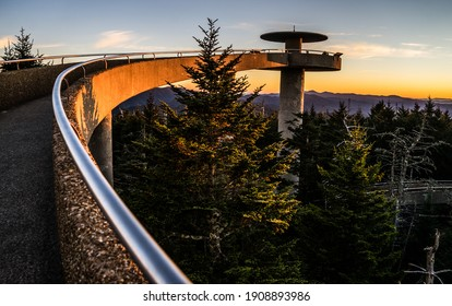 Long Ramp At Clingmans Dome Observation Tower In Great Smoky Mountains National Park.