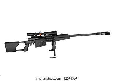 long range sniper rifle isolated