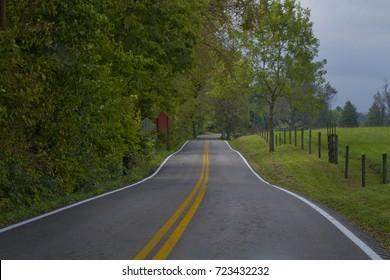 A long road in Kentucky.