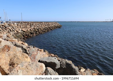 Long Rock Levee at Coastal Community Landscape