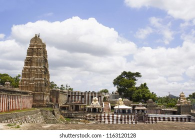 Long shot of Hampi Temple, Karnataka, India