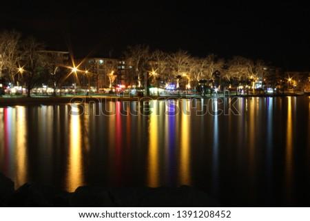 Uzun pozlama şehir ışıkları