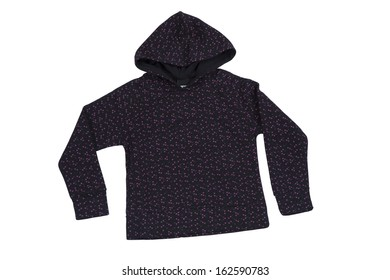 long sleeve sportswear  with hood with clipping path