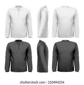 Long sleeved shirts with sample text space.