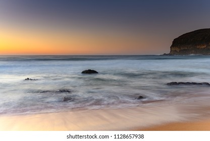 Long and Soft Sunrise Seascape - Taken at MacMasters Beach on the Central Coast, NSW, Australia.