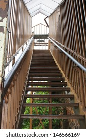 Long staircase