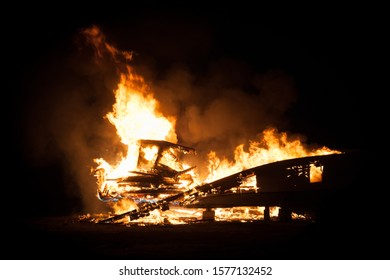A long standing tradition of burning and old, retired boat every year.
