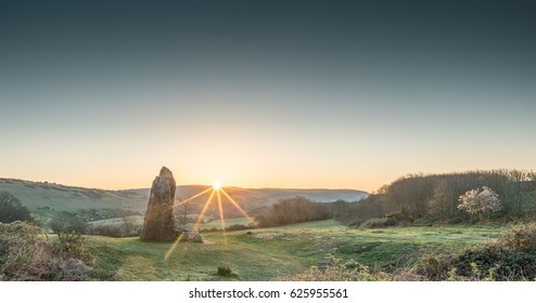The Long Stone, Brighstone, Isle of Wight, England
