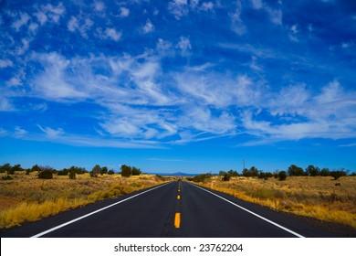 Long straight road.