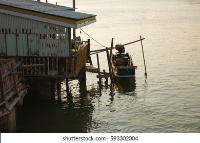 Long tail boat a main transportation in chaopraya river,thailand