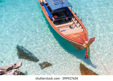 Long tail boat on the sea, Koh Lipe, Andaman sea, Thailand