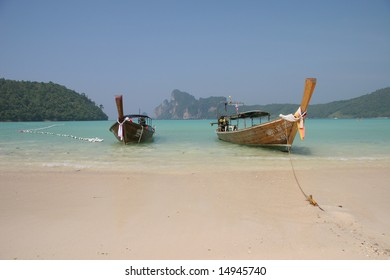 Long tail boat, Phi Phi Island, Thailand