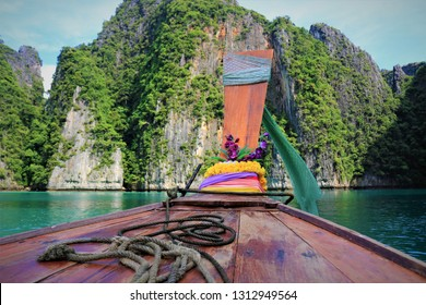 long tail boats and nature of thailand