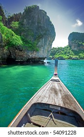 Long tailed boat tour around Thailand Islands