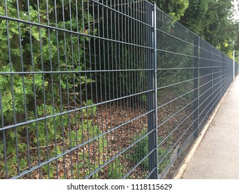 Long and tall iron fence