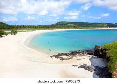 Long Tanjung Aan white sand  beach, Lombok, Indonesia