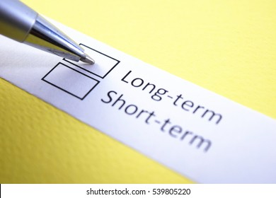 Long tern or short term? Long term.