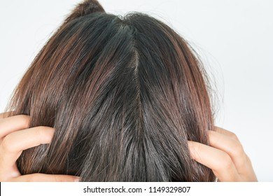 Long and thick hair of women