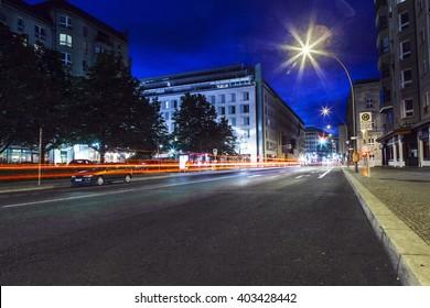 long time exposure of Berlin street