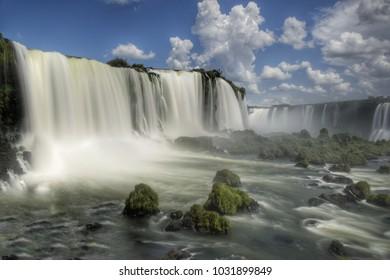Long time exposure of the Iguazu Falls (Brazil/Argentina)