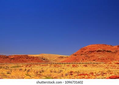 Long train in the Pilbara, Australia
