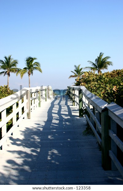 long walk to the beach in Hollywood Florida