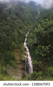 Long waterfall flowing from the mountaion Place: Ayder, Rize, Turkey