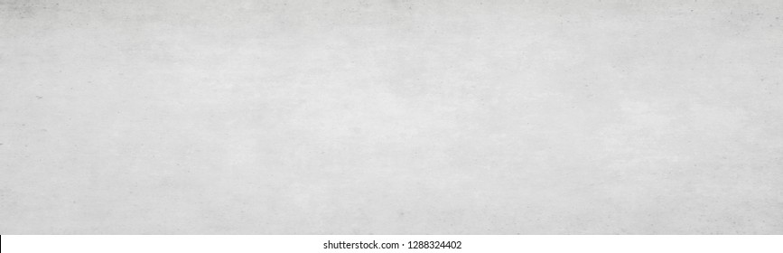 Long wide white light panoramic wallpaper. Monochrome texture background with white and gray color.Grunge old wall texture, concrete cement.