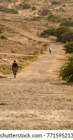 Long winding road in cape verde