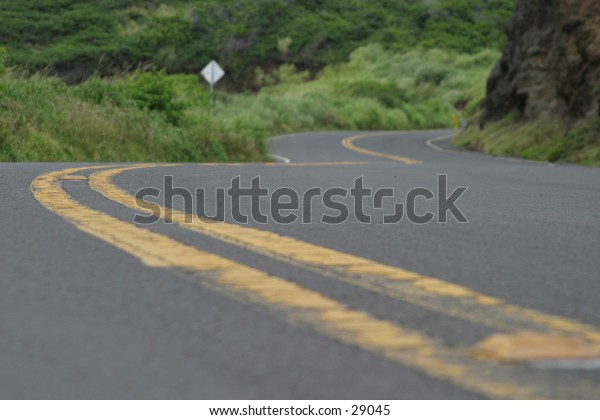 a long and winding road leading to parts unknown on the west side of the island of maui in hawaii