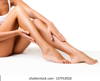 Pretty women legs with 32 of