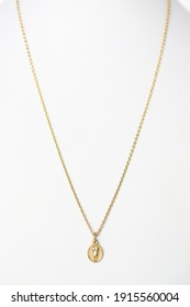 Long Yellow Gold Chain Necklace