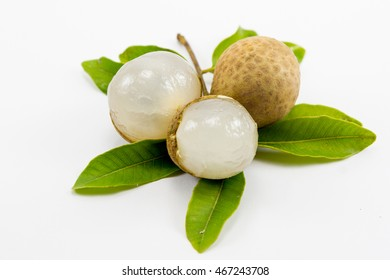 Longan (Dimocarpus longan) on white background