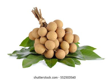 Longan (Dimocarpus longan) on white background.
