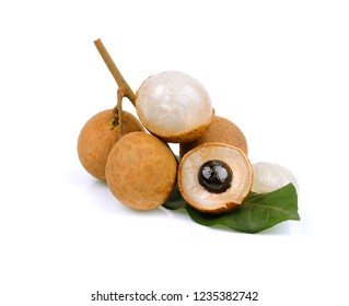 longan. fresh longan isolated on white background