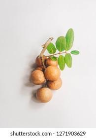 longan. fresh longan isolated on white background