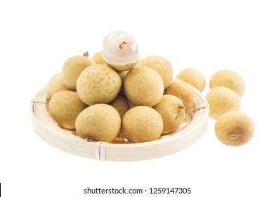 Longan. fresh longan on white background
