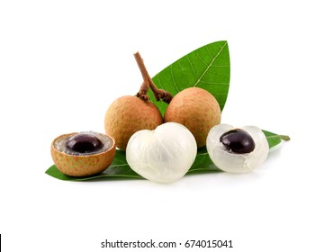 longan. fresh  on white background