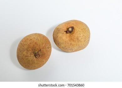 Longan fruit (Dimocarpus longan) isolated on white background