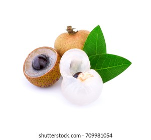longan fruit fresh on white background