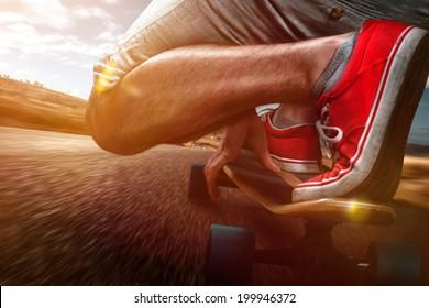 Longboard Riding