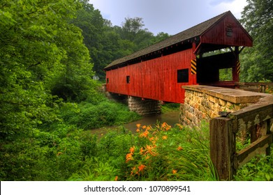 The Longdon Covered Bridge in Pennsylvania