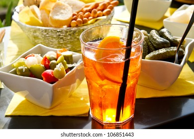 Long-drink with orange slices